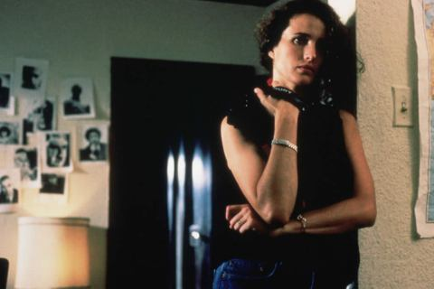 "Andie MacDowell in ""sex, lies, and videotape"""